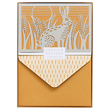 Buy Portico Laser Cut Hare Notecards, Box of 10 Online at johnlewis.com