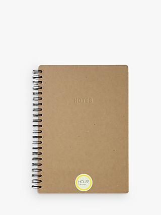 House by John Lewis Kraft A4 Notebook