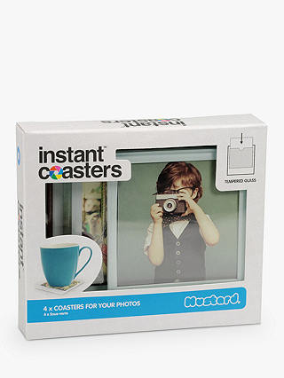 Buy Mustard Instant Photo Personalised Coasters, Pack of 4 Online at johnlewis.com
