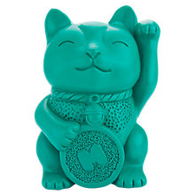 Buy Mustard Lucky Cat Pen Pot Online at johnlewis.com