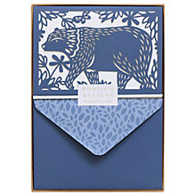 Buy Portico Laser Cut Bear Notecards, Box of 10 Online at johnlewis.com