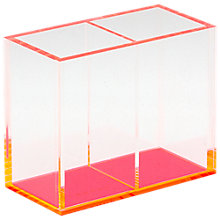 Buy Lund London Chunky Double Acrylic Pen Holder, Pink Online at johnlewis.com