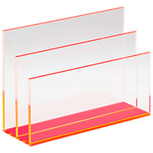 Buy Lund London Chunky Acrylic Letter Holder, Pink Online at johnlewis.com
