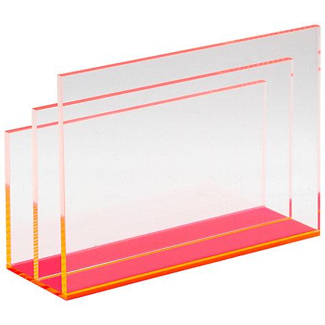 Buy Lund London Chunky Acrylic Letter Holder Pink John
