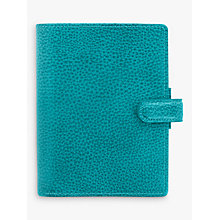 Buy Filofax Finsbury Leather Pocket Organiser, Aqua Online at johnlewis.com