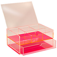 Buy Lund London Small Chunky Acrylic J. Box, Pink Online at johnlewis.com