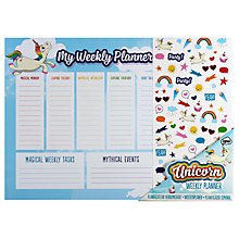 Buy NPW Unicorn Weekly Planner Online at johnlewis.com