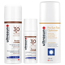 Buy Ultrasun SPF 30 Body Tan Activator, 150ml and SPF 30 Face Tan Activator, 50ml with Gift Online at johnlewis.com