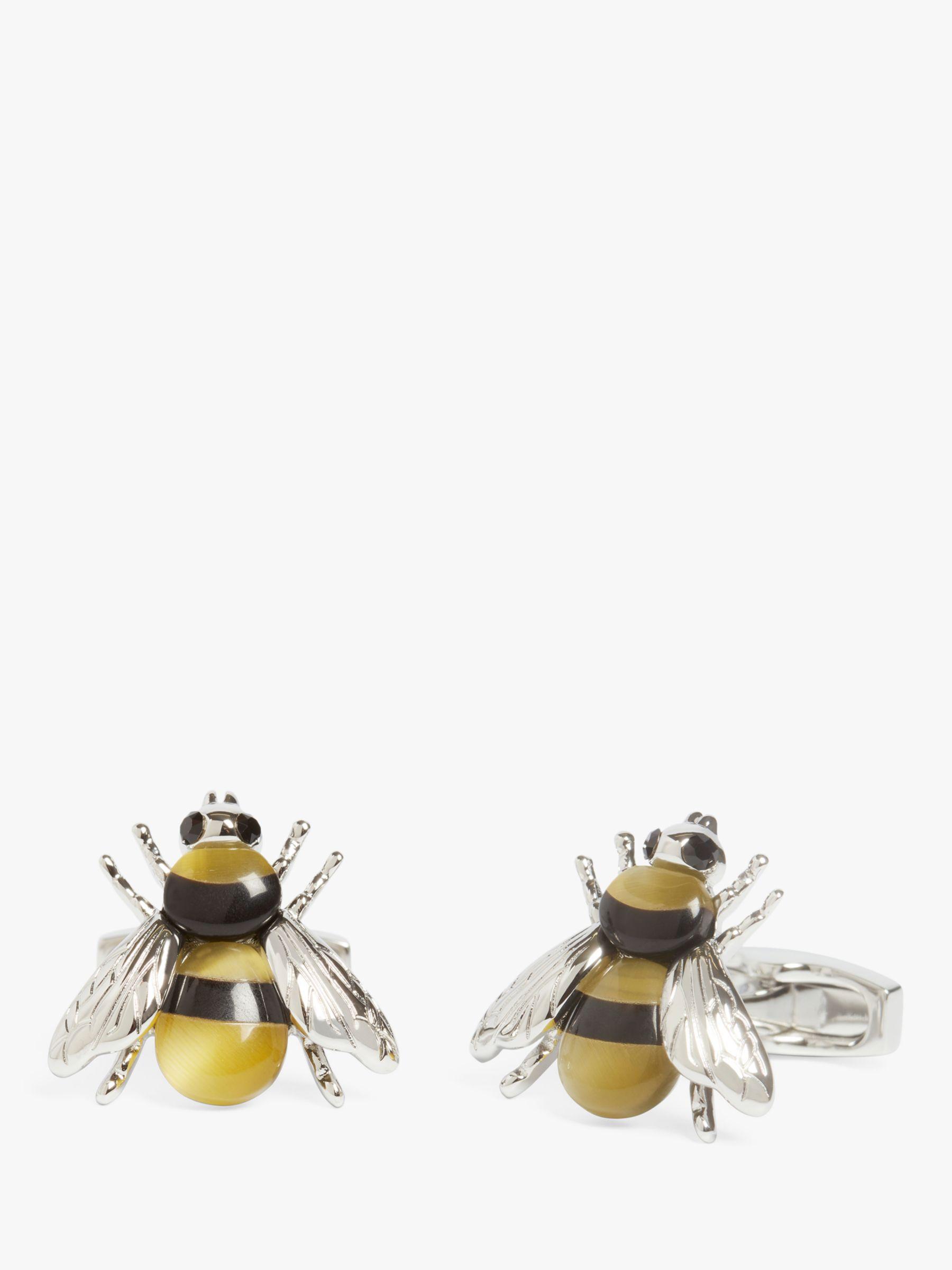 Simon Carter Simon Carter Bee Cufflinks, Silver/Black