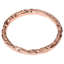 Buy Matthew Calvin Thin Meteorite Stacking Ring, Rose Gold Online at johnlewis.com