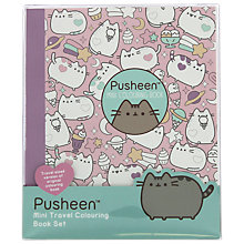 Buy Pusheen Mini Travel Colouring Book Set Online at johnlewis.com