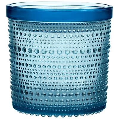 Iittala Kastehelmi Glass Jar, Light Blue, 11.6 x 11.4cm