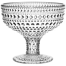 Buy Iittala Kastehelmi Footed Bowl, H10cm, Clear Online at johnlewis.com