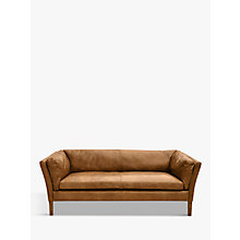 Buy Halo Groucho Leather Medium 2 Seater Sofa Online at johnlewis.com