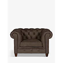 Buy Halo Earle Aniline Leather Chesterfield Armchair Online at johnlewis.com