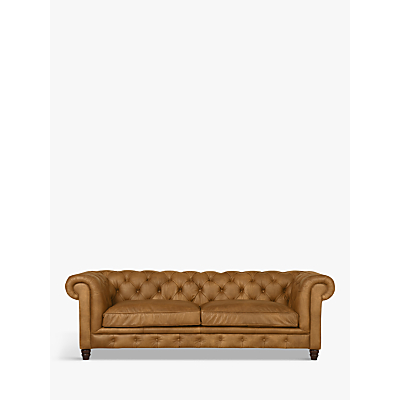 Halo Earle Aniline Leather Chesterfield Large 3 Seater Sofa