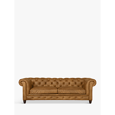 Halo Earle Aniline Leather Chesterfield Grand 4 Seater Sofa