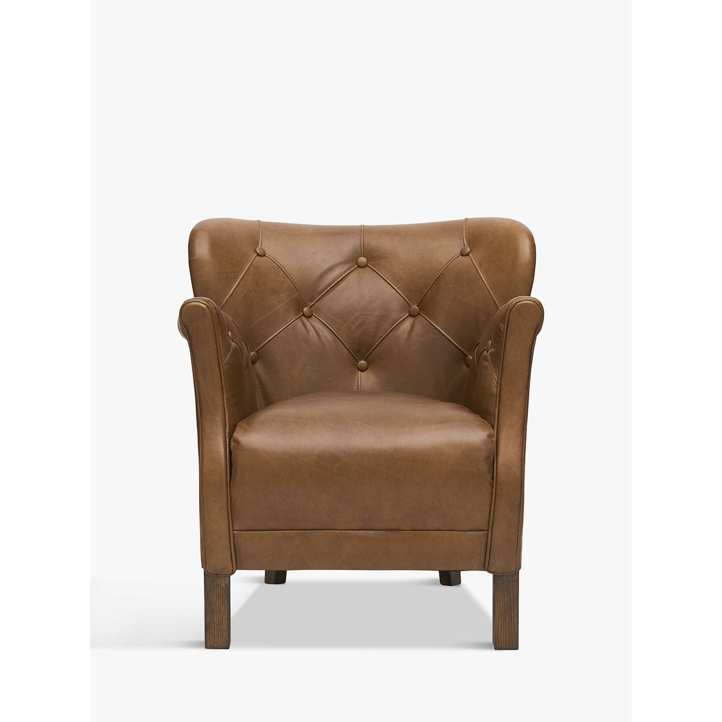 Halo Little Professor Buttoned Leather Chair at John Lewis