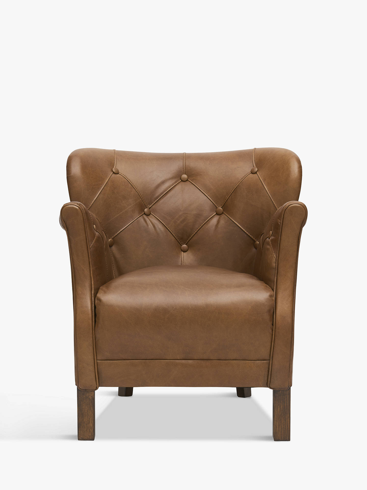 Halo Little Professor Oned Leather Chair Riders Nut At Johnlewis Com