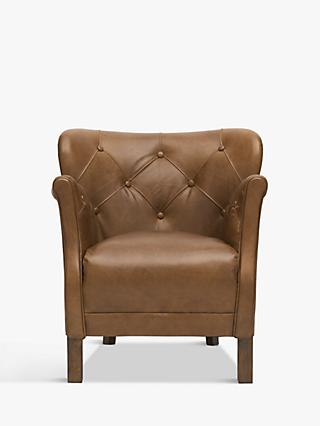 Halo Little Professor Buttoned Leather Armchair