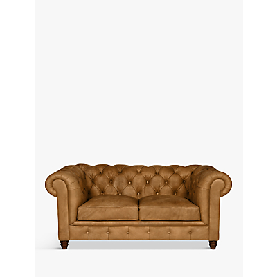 Halo Earle Aniline Leather Chesterfield Medium 2 Seater Sofa