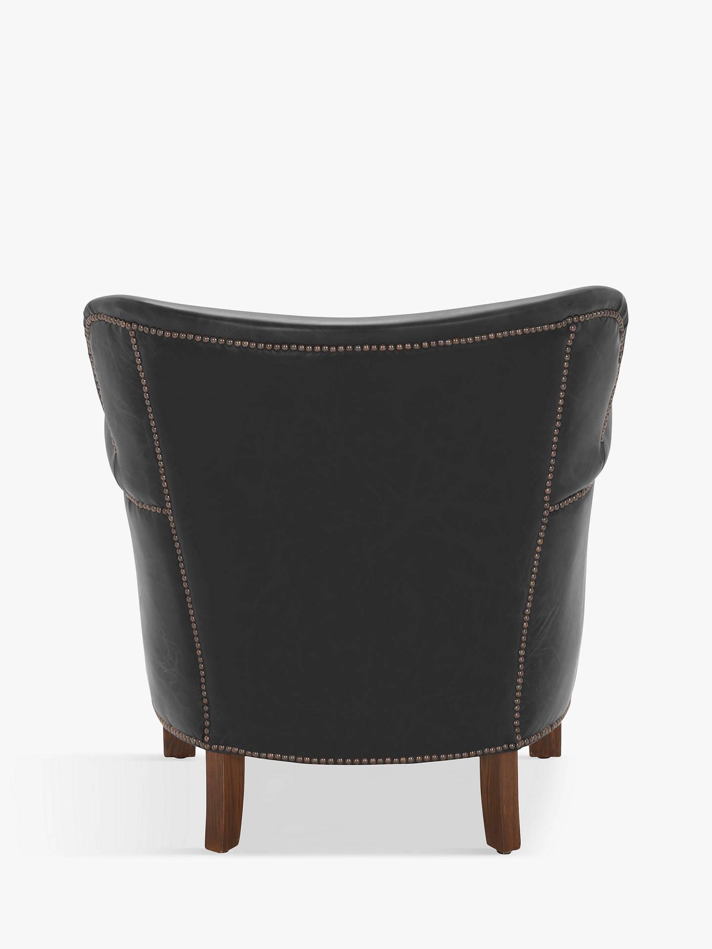 Halo Little Professor Aniline Leather Chair Napinha Ebony At Johnlewis Com