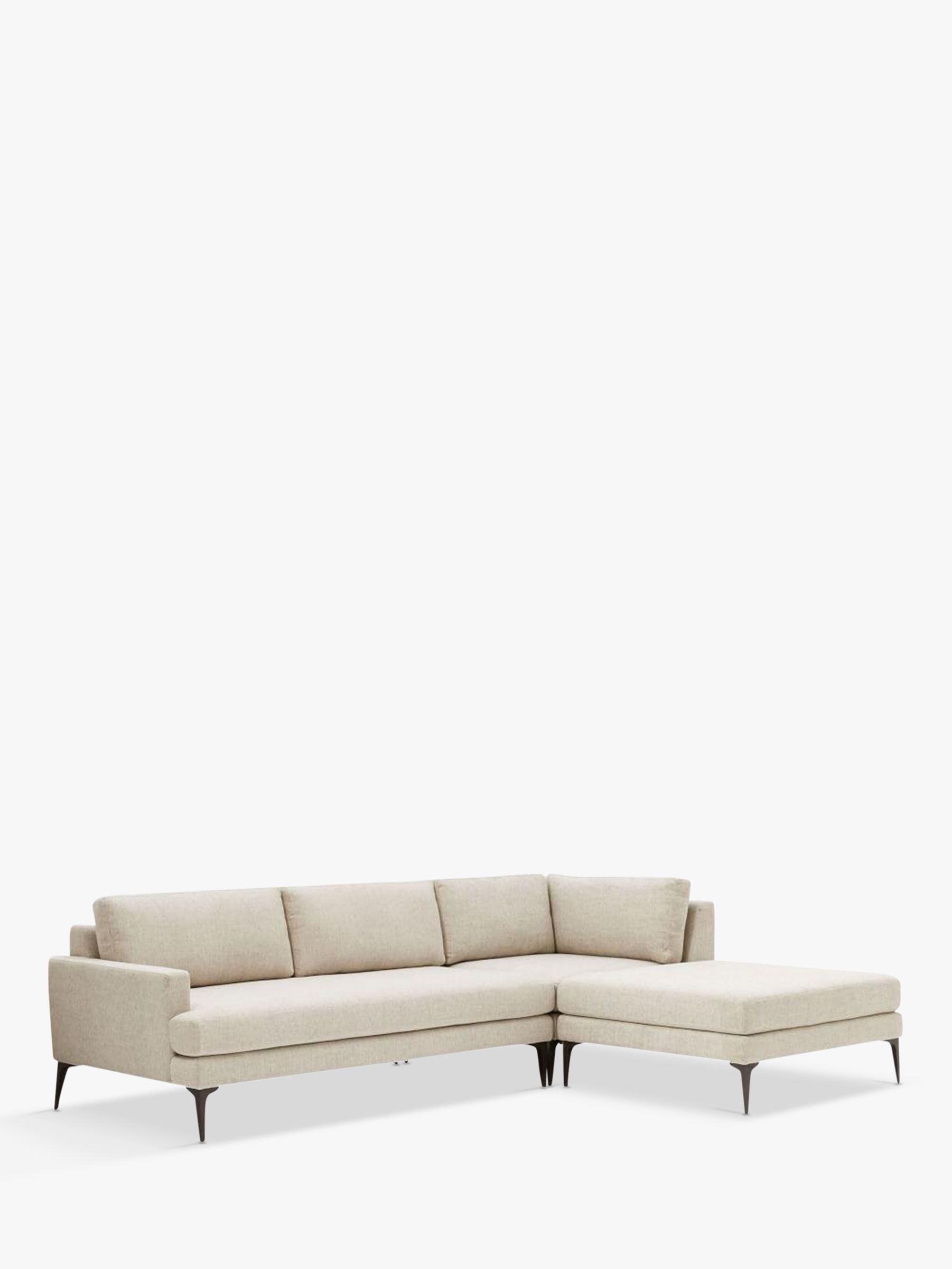 Buy west elm Andes Large 3 Seater RHF Sectional Sofa TwillStone