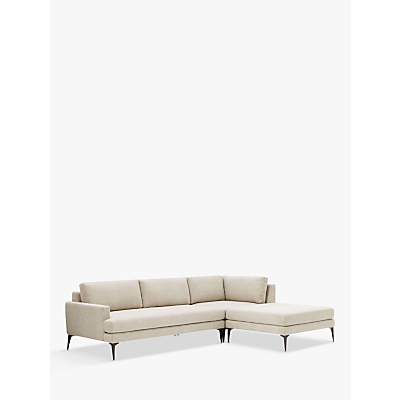 west elm Andes Large 3 Seater RHF Sectional Sofa, Twill/Stone