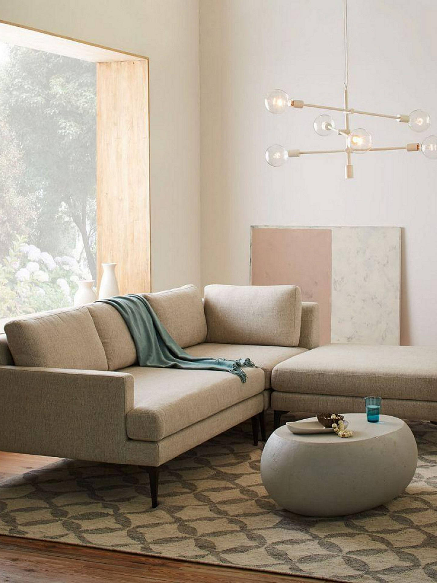 Cool West Elm Andes Large 3 Seater Rhf Sectional Sofa Granite Alphanode Cool Chair Designs And Ideas Alphanodeonline