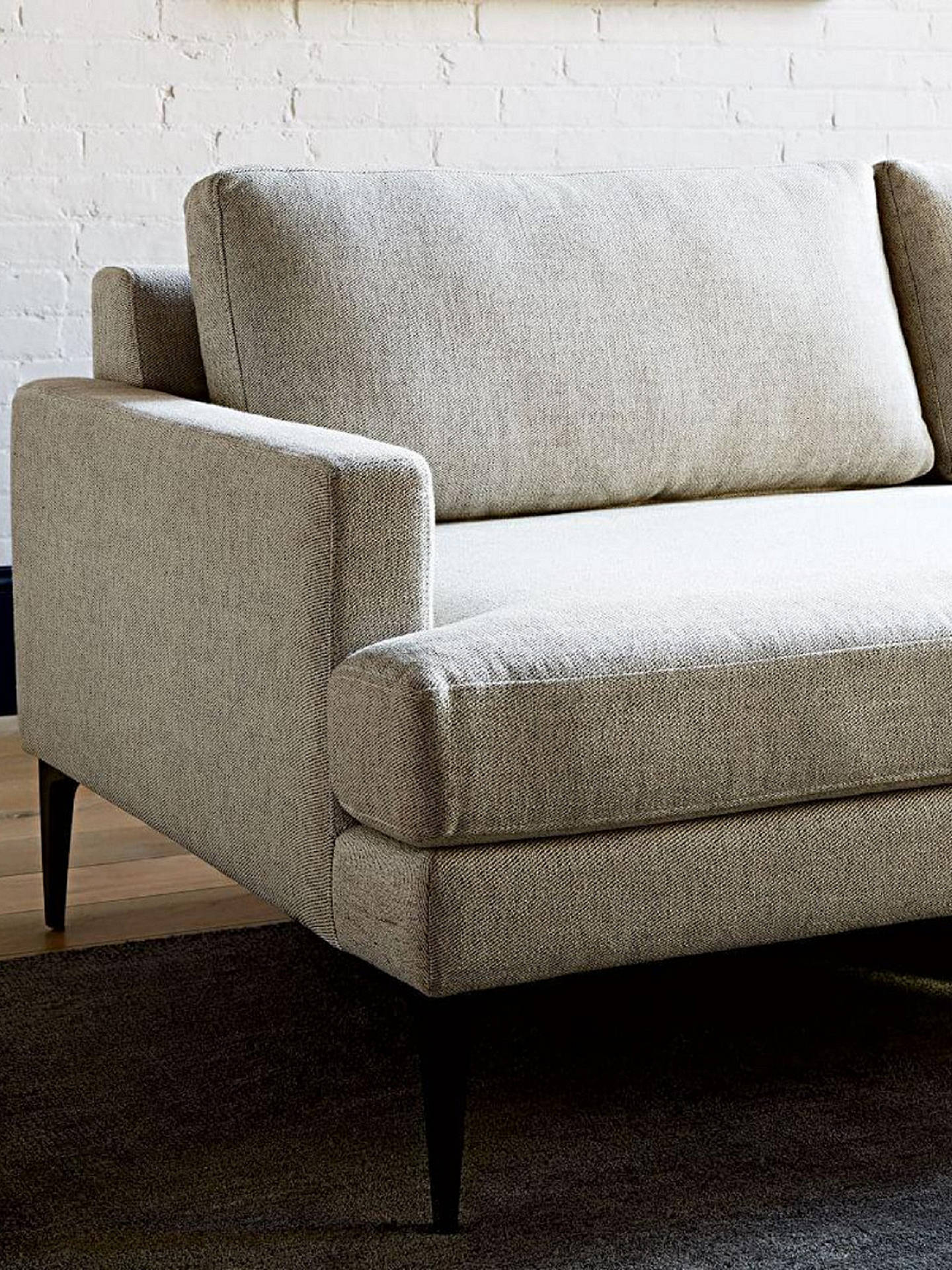 Fabulous West Elm Andes Large 3 Seater Rhf Sectional Sofa Granite Alphanode Cool Chair Designs And Ideas Alphanodeonline