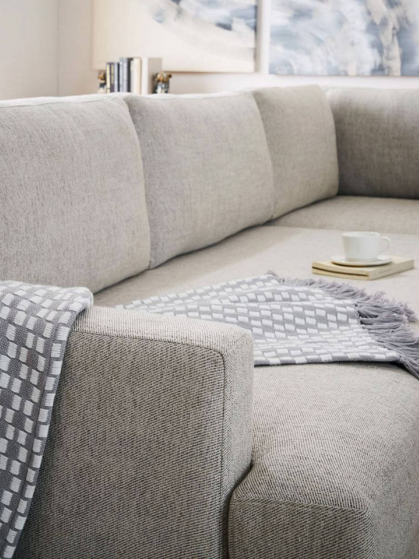Enjoyable West Elm Andes Large 3 Seater Rhf Sectional Sofa Granite Alphanode Cool Chair Designs And Ideas Alphanodeonline