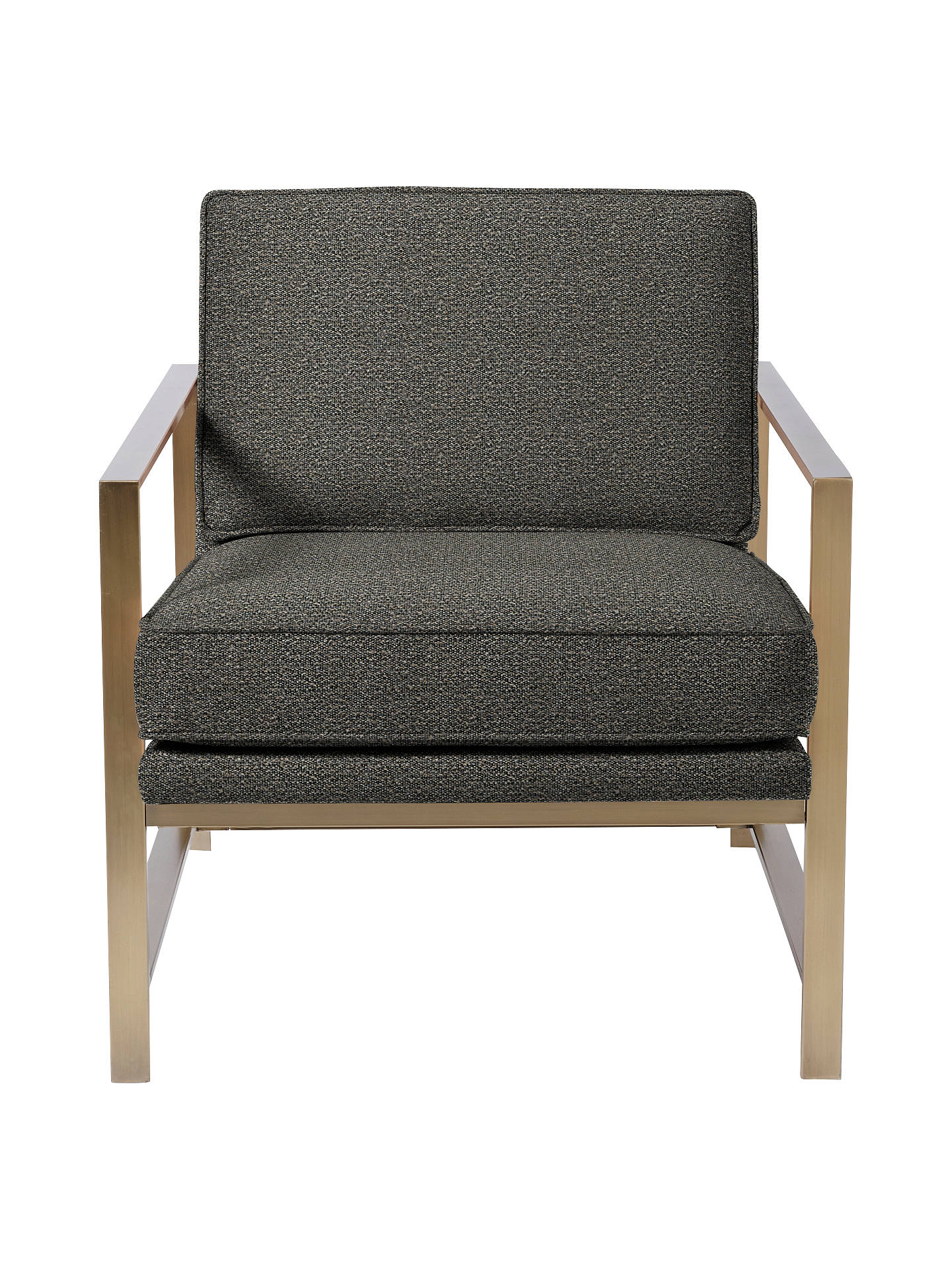 west elm Metal Frame Armchair, Charcoal at John Lewis ...