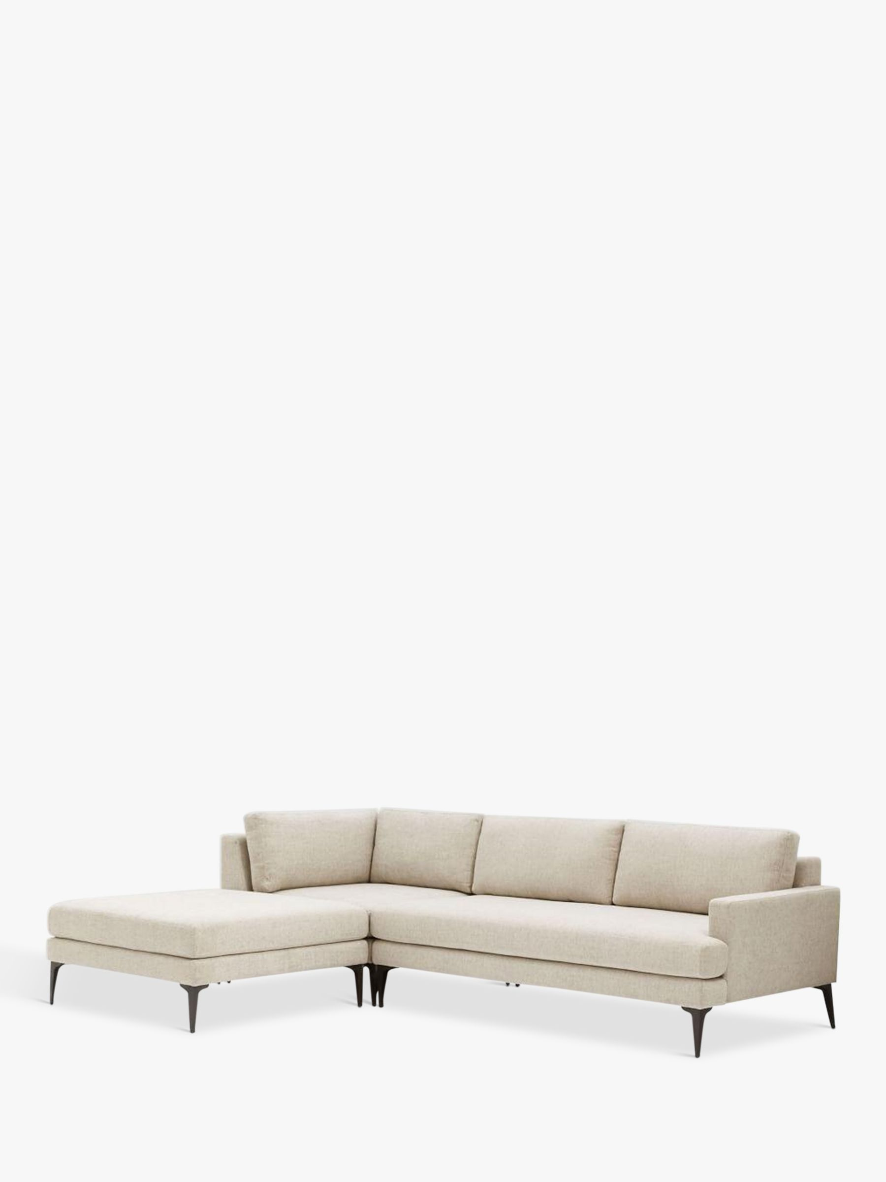 Buy west elm Andes Large 3 Seater LHF Sectional Sofa TwillStone