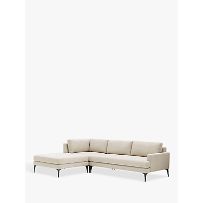 west elm Andes Large 3 Seater LHF Sectional Sofa, Twill/Stone