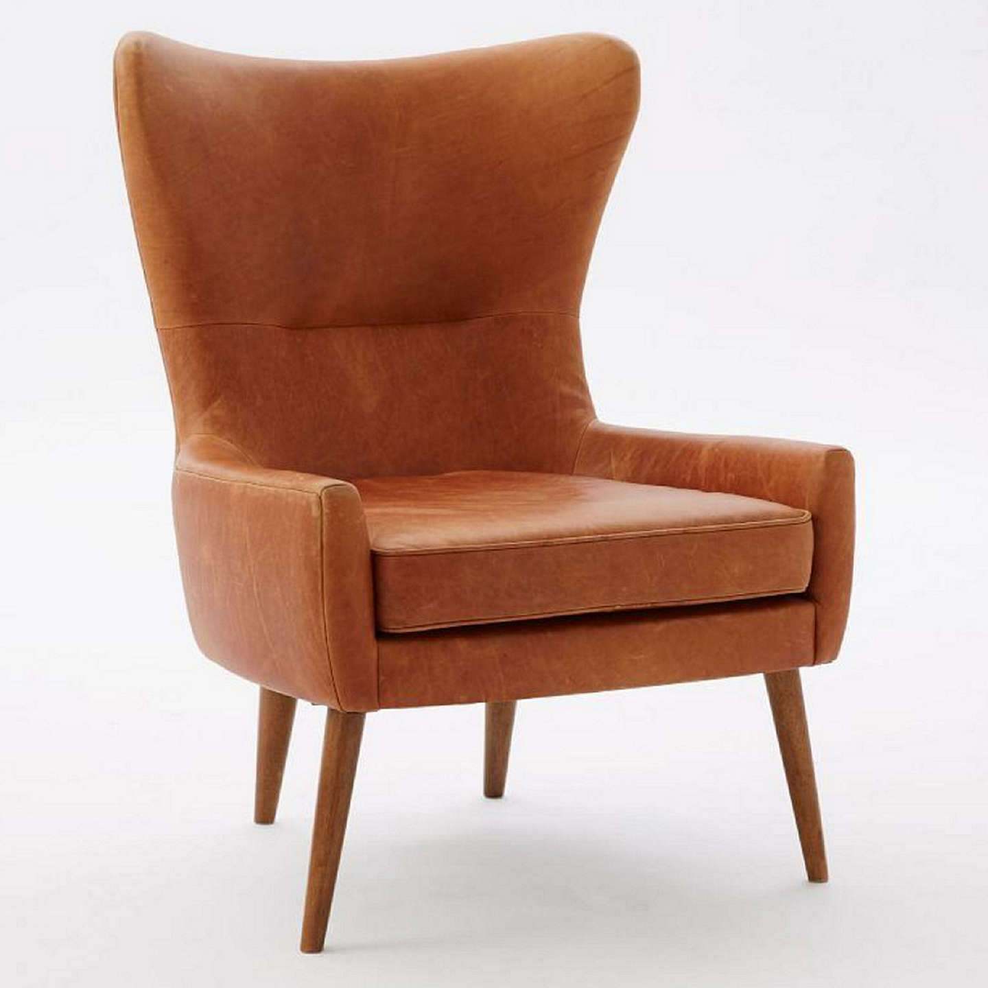 ... Buywest Elm Erik Leather Swing Chair, Saddle Online At Johnlewis.com ...