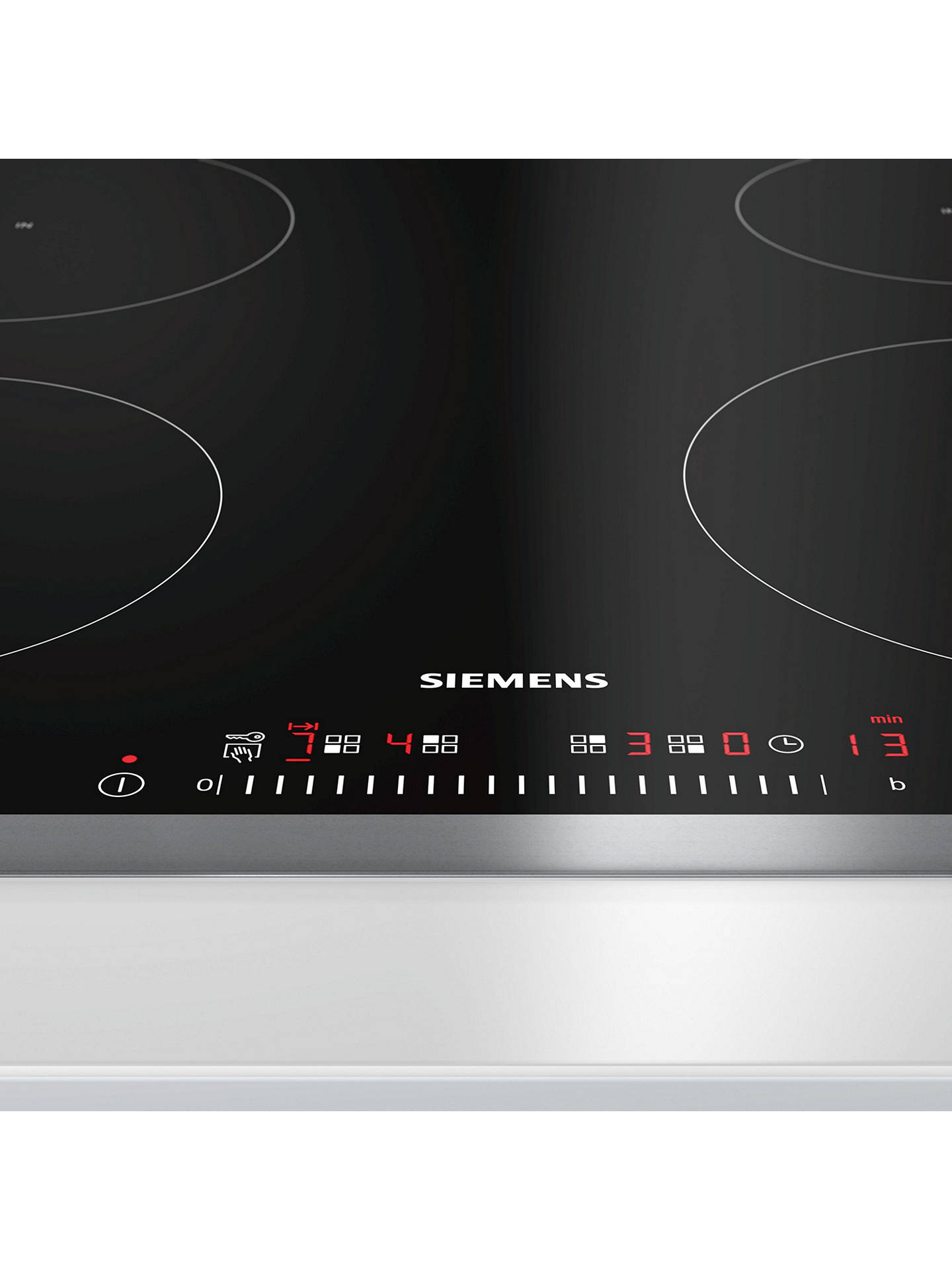 BuySiemens EH645FEB1E Induction Hob, Black Online at johnlewis.com