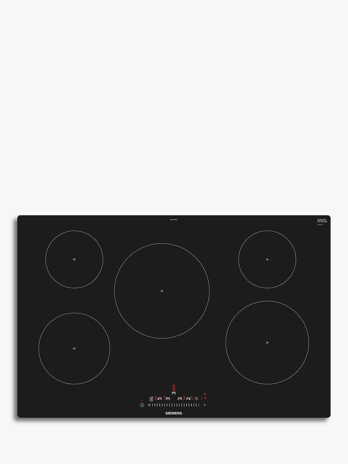 BuySiemens EH801FVB1E Induction Hob, Black Online at johnlewis.com