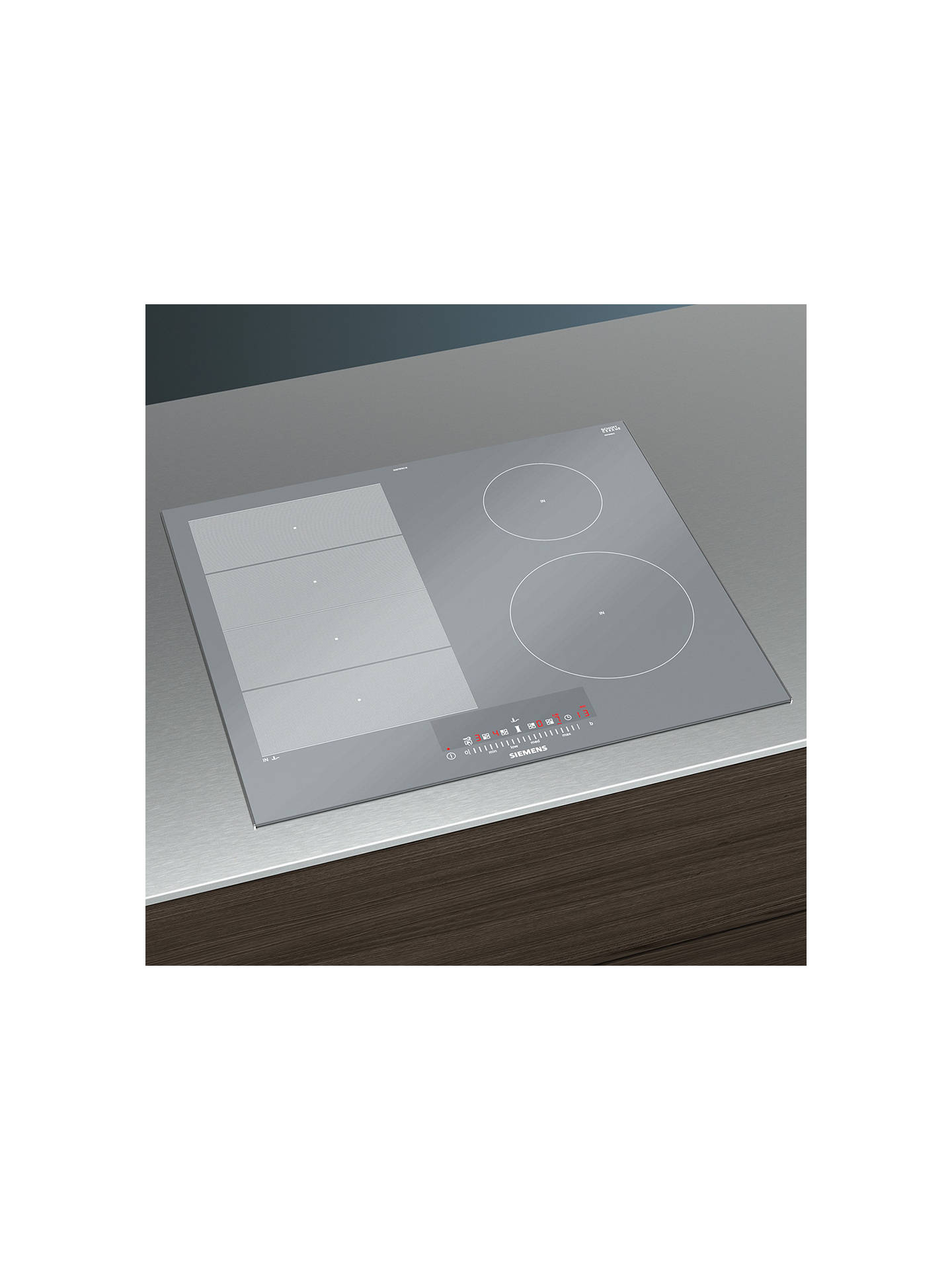 BuySiemens iQ700 EX679FEC1E Induction Hob, Stainless Steel Online at johnlewis.com
