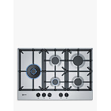 Buy Neff T27DS79N0 Gas Hob, Stainless Steel Online at johnlewis.com