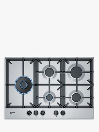 Neff T27DS79N0 Gas Hob, Stainless Steel