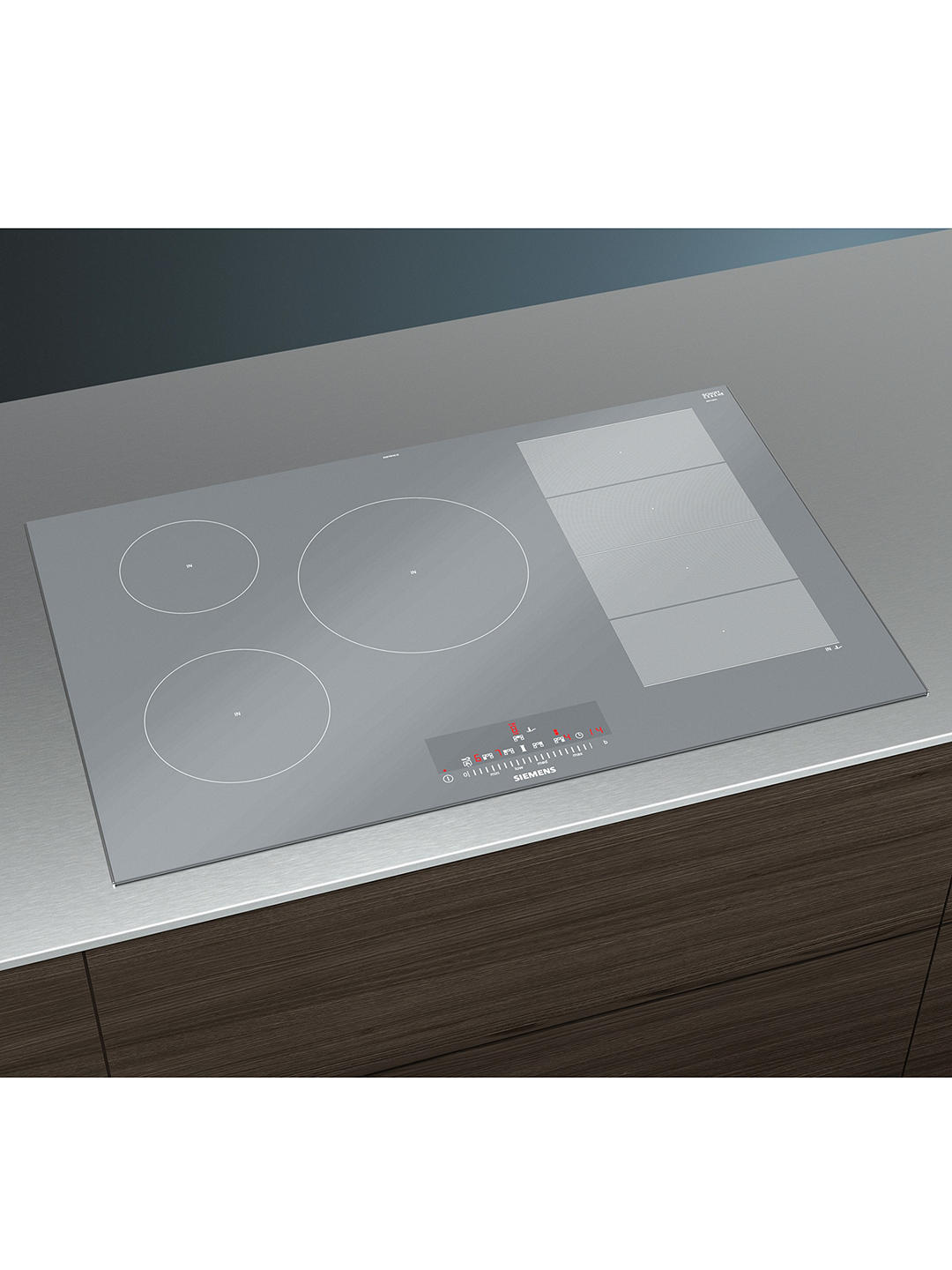 Buy Siemens iQ700 EX879FVC1E Induction Hob, Stainless Steel Online at johnlewis.com