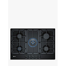 Buy Neff T27DS59S0 Gas Hob, Black Online at johnlewis.com