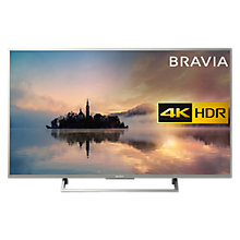 "Buy Sony Bravia KD55XE7073 LED HDR 4K Ultra HD Smart TV, 55"" with Freeview Play & Cable Management, Silver Online at johnlewis.com"