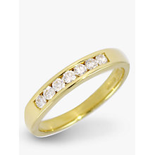 Buy EWA 18ct Yellow Gold Channel Set  Diamond Half  Eternity Ring Online at johnlewis.com