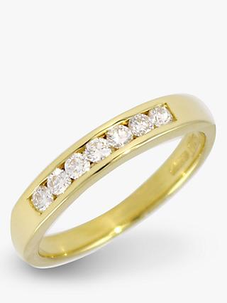 E.W Adams 18ct Yellow Gold Channel Set  Diamond Half  Eternity Ring