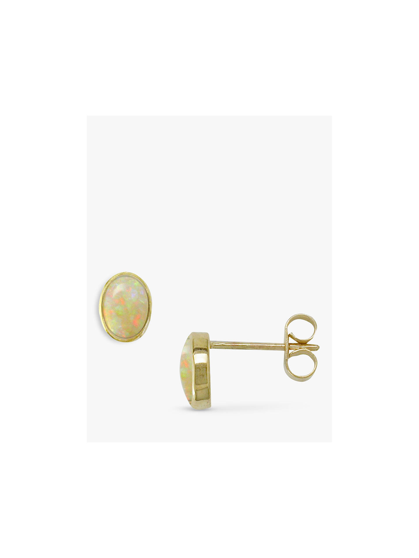 Buy E.W Adams 9ct Gold Oval Stud Earrings, Oval Online at johnlewis.com