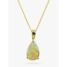 Buy EWA 9ct Gold Teardrop Pendant Necklace, Opal Online at johnlewis.com