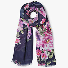 Buy John Lewis Floral Print Scarf, Navy/Multi Online at johnlewis.com
