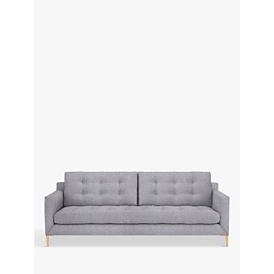 John Lewis Draper Large 3 Seater Sofa, Light Leg, Saga Grey