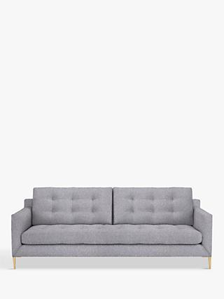 John Lewis & Partners Draper Large 3 Seater Sofa, Light Leg, Saga Grey